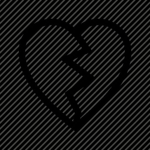 broken, demaged, fail, feedback, heart, rating icon