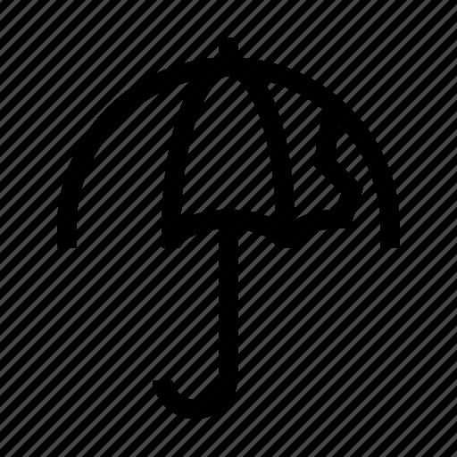 broken, demaged, fail, object, protec, umbrella, waterproof icon