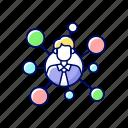 broker, connection, network, communication