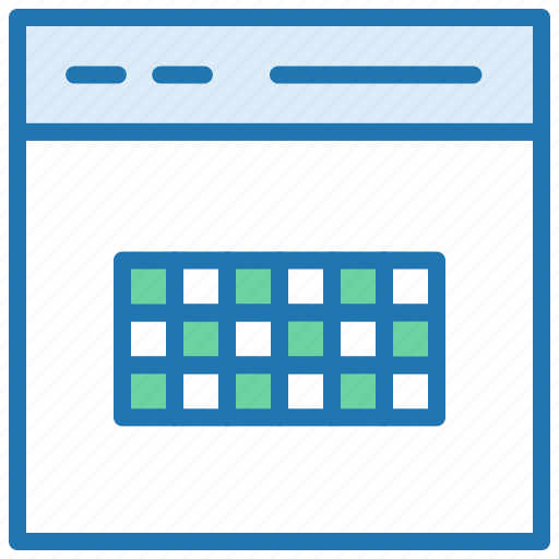 browser, datatable, grid, layout, web table icon