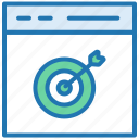 goal, interface, mission, strategy, target browser, website icon