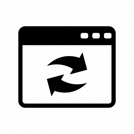 browser, refresh, web icon