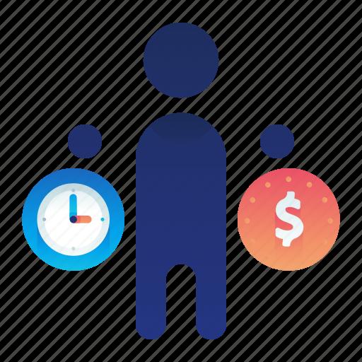 Balance, clock, finance, money, time icon - Download on Iconfinder