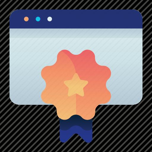 Badge, browser, certified, web, website icon - Download on Iconfinder