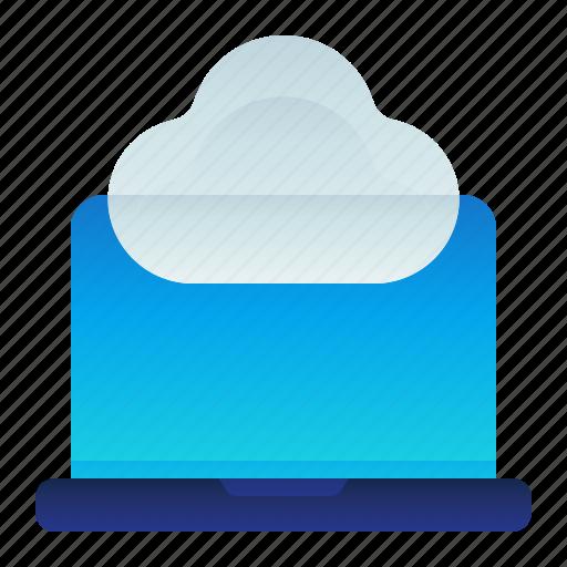 cloud, computer, computing, laptop, storage icon