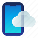 cloud, mobile, phone, smartphone, storage icon