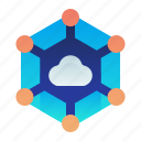 cloud, communication, community, network, share icon