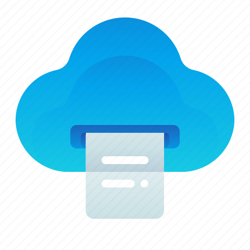 Cloud, document, print, printing, storage icon - Download on Iconfinder
