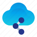 cloud, share, sharing, storage, transfer icon