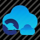 arrows, cloud, storage, sync, syncronize icon