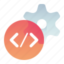 code, coding, optimization, optimize, settings icon