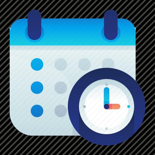 Calendar, clock, effeciency, service, time icon - Download on Iconfinder