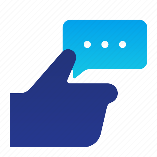 comment, feedback, gesture, hand, like, rate icon