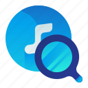 find, media, multimedia, music, search icon