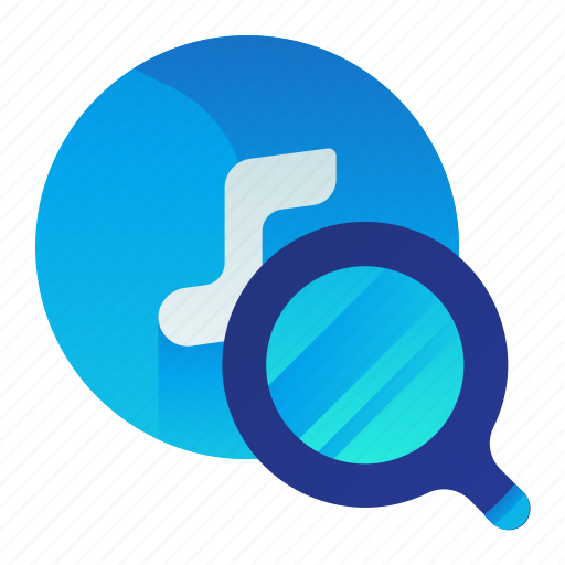 find, media, multimedia, music, search icon