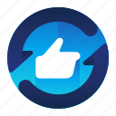 feedback, like, positive, rate, rating icon