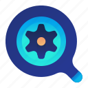 find, optimization, optimize, search, settings icon
