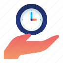 clock, gesture, hand, management, time, timer icon