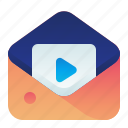 content, letter, mail, message, video