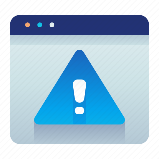 alert, browser, error, web, webpage, website icon