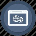 browser, click, earth, online, seo, website