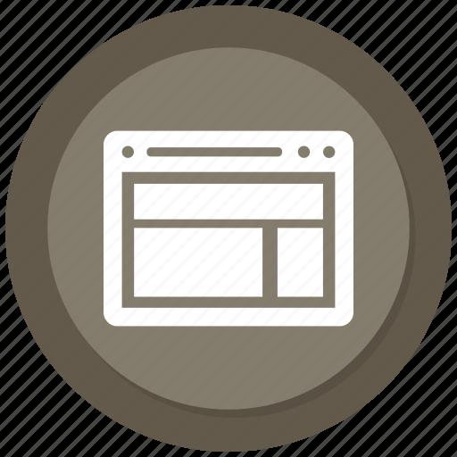 browser, internet, layout, online, website icon
