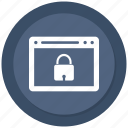 browser, computer, internet, lock icon