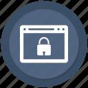 browser, computer, internet, lock