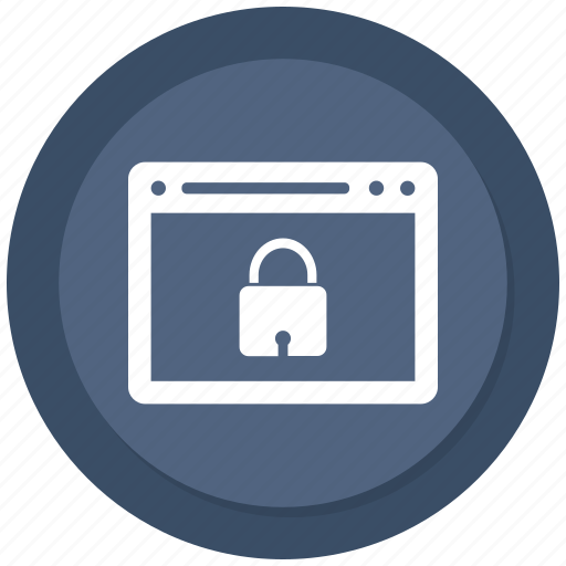 browser, computer, internet, lock icon