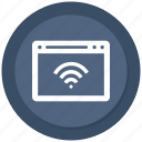 browser, internet, seo, web, website, wifi icon