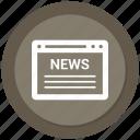 browser, click, news, online