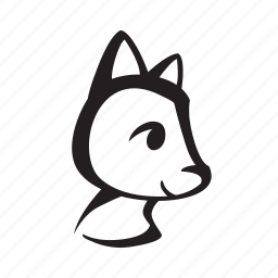 animal, cat, cute, face, head, pet, side icon