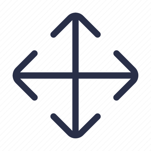 arrow, cross, cursor, drag, interface, move, navigation icon