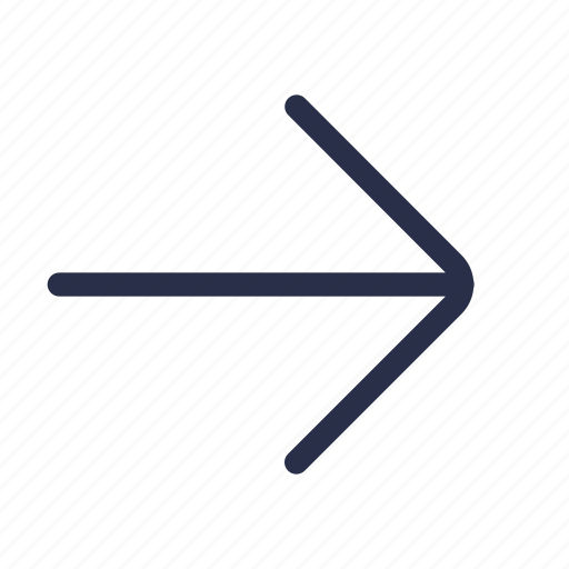 arrow, direction, done, forward, navigation, next, right icon