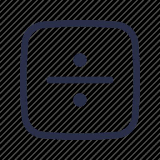 division, math, сalculation, сalculator icon