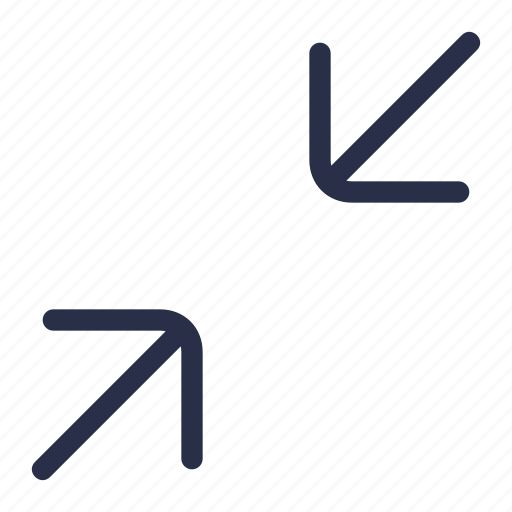 arrow, cover, direction, minimize icon