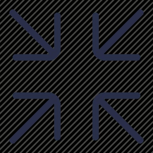 arrow, cover, interface, minimize, resize icon