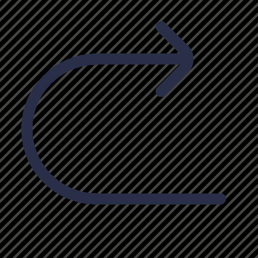 editor, forward, next, redo, right arrow, text icon