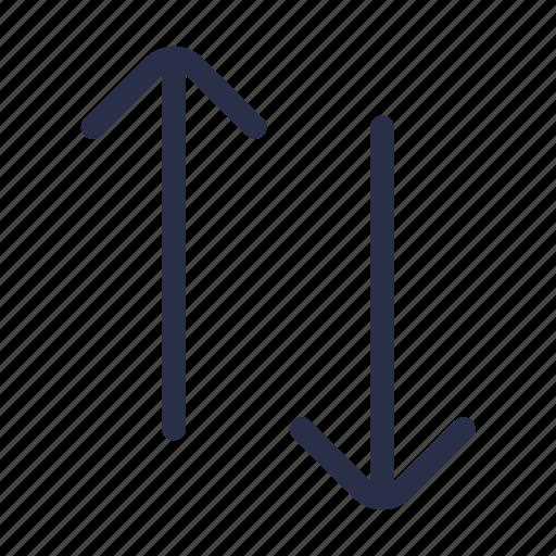 arrow, bottom, direction, sort, top icon