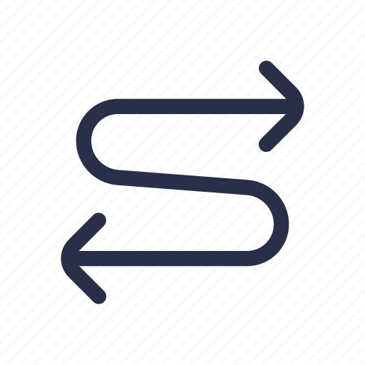 direction, route, sign, swap, traffic icon