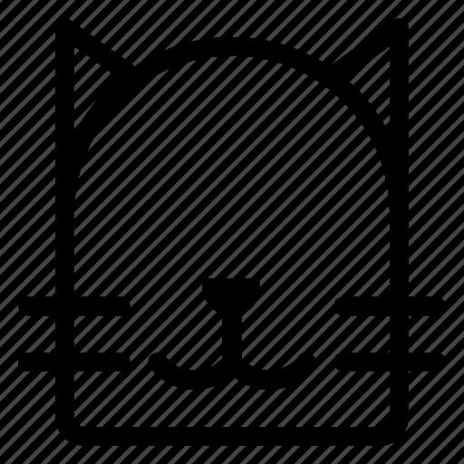 animal, animals, cat, front icon
