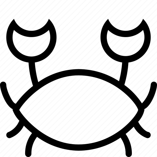 animal, animals, crab, food, seafood icon