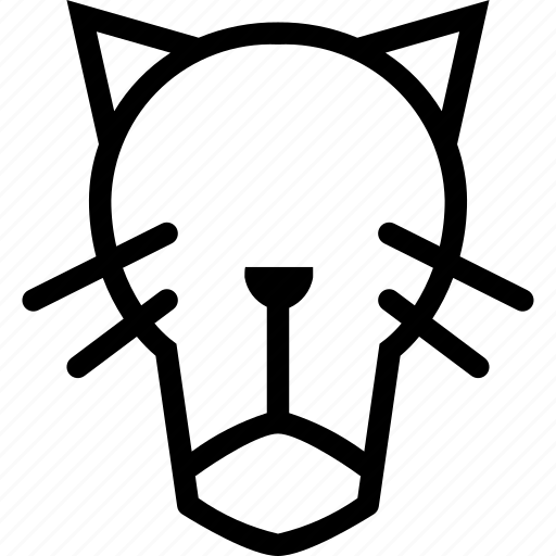 animal, animals, cat, face, front, panther, pet icon