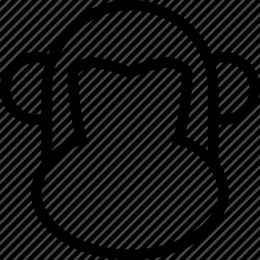 animal, animals, chimp, face, front, monkey, sympanse icon