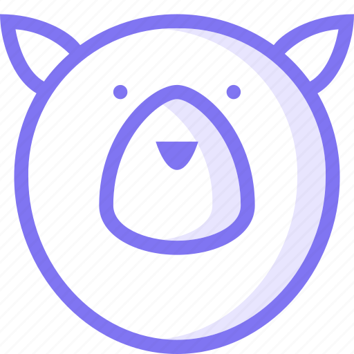 animal, bear, grizzly, grizzly bear icon