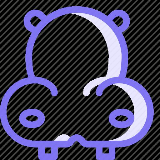 animal, hippo, wild animal icon