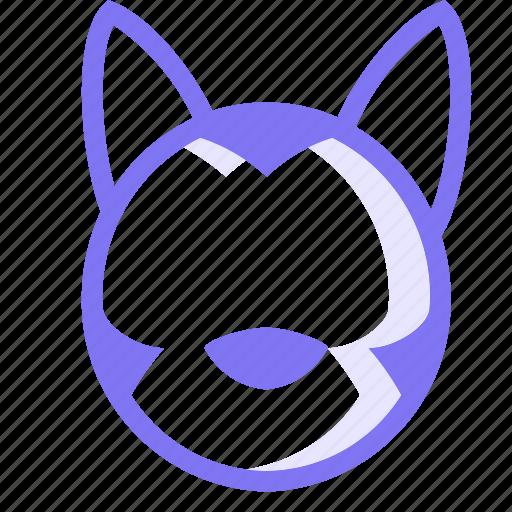 animal, dog, husky, husky dog, pet icon