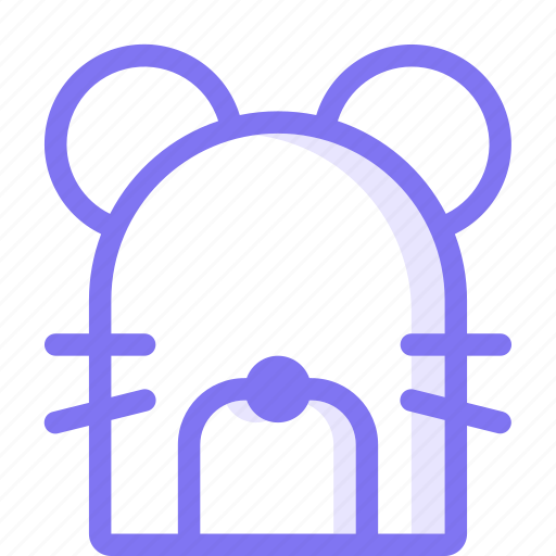 animal, front, mouse icon