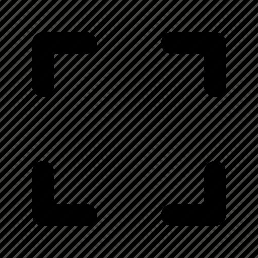focus, focus grid, fullscreen, optimize, preview icon