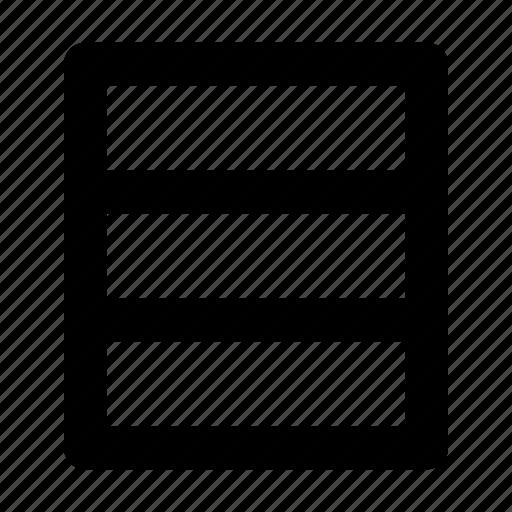 grid, horizontal icon